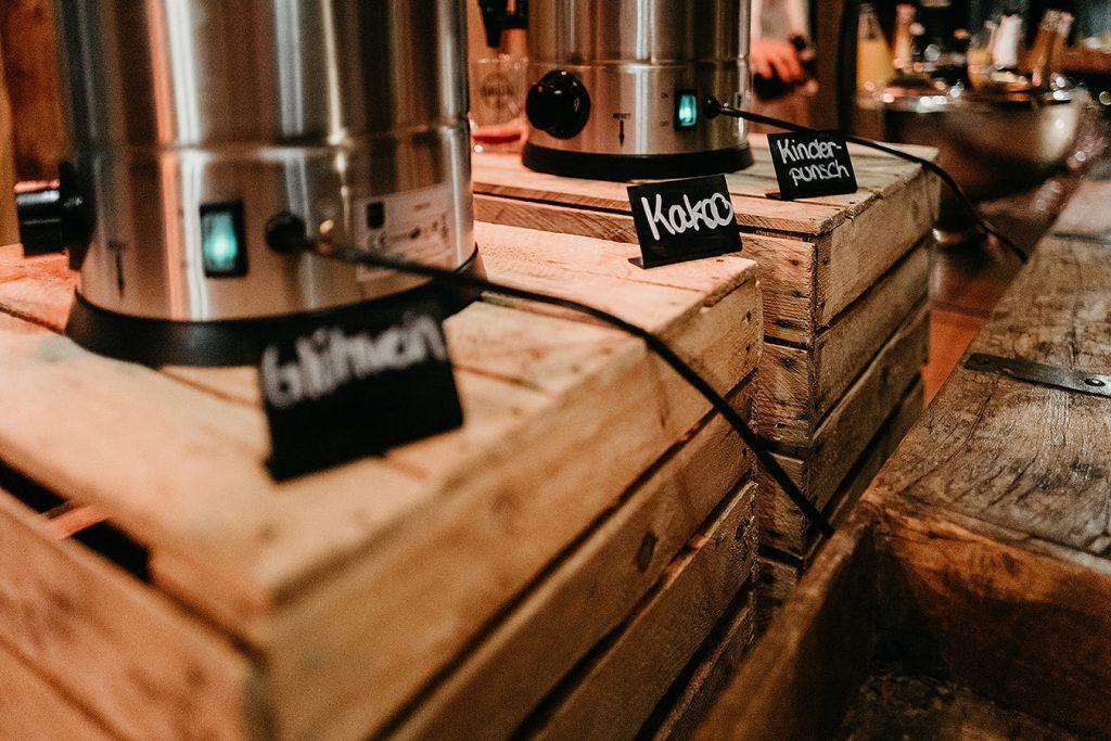 Getränke für Winerhochzeit